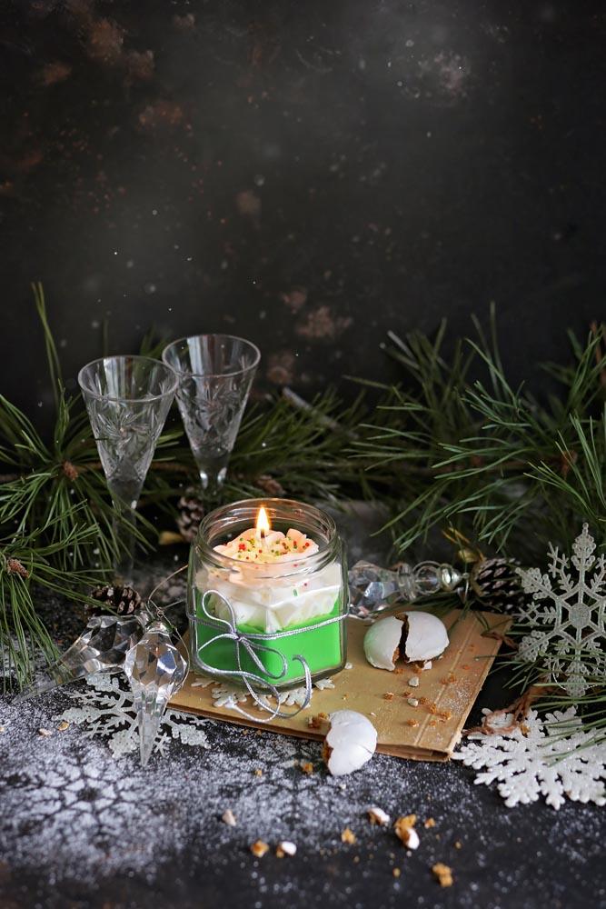Декоративна свещ в бурканче Christmas Green