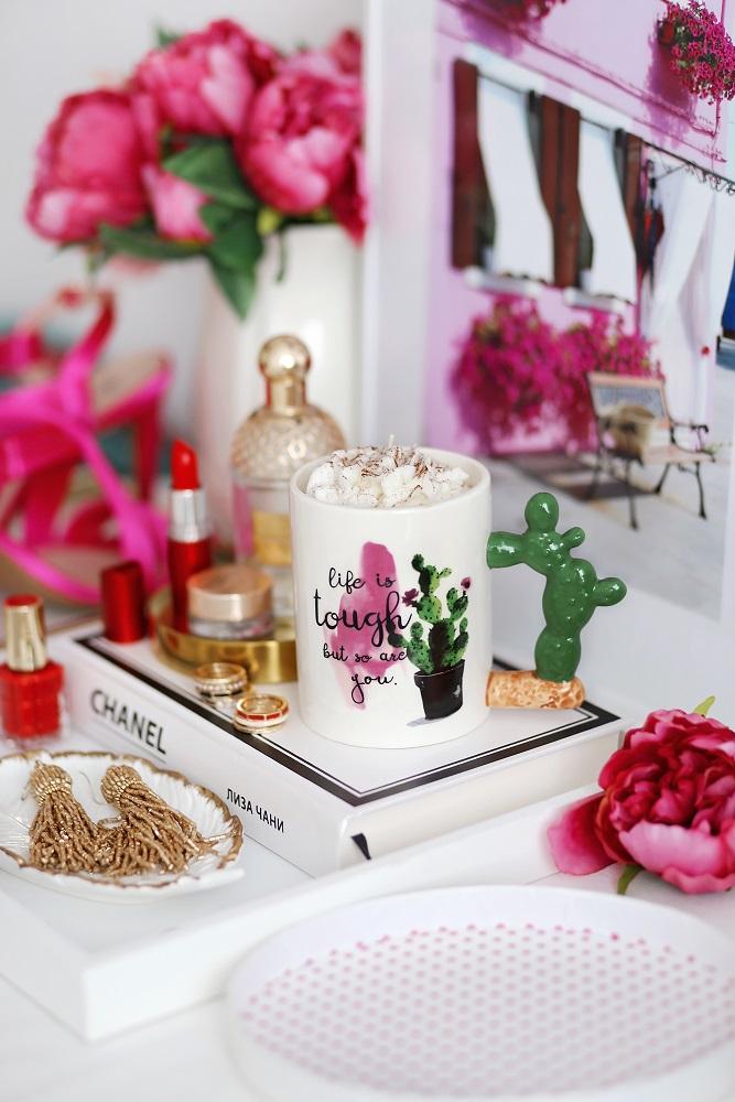 Декоративна свещ Cactus Latte