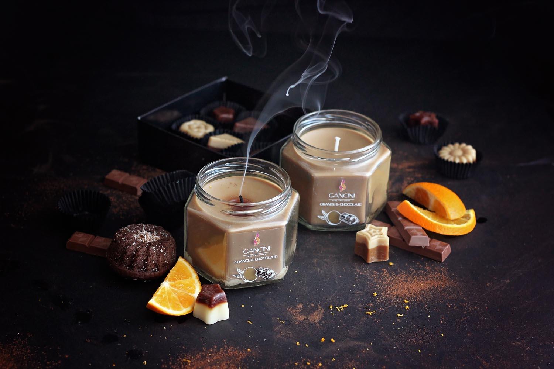Декоративна свещ в бурканче Orange and Chocolate