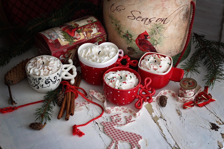 Декоративна свещ Christmas