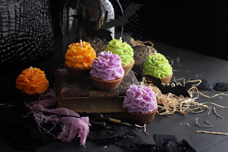 Декоративна свещ кексче Spooky Halloween