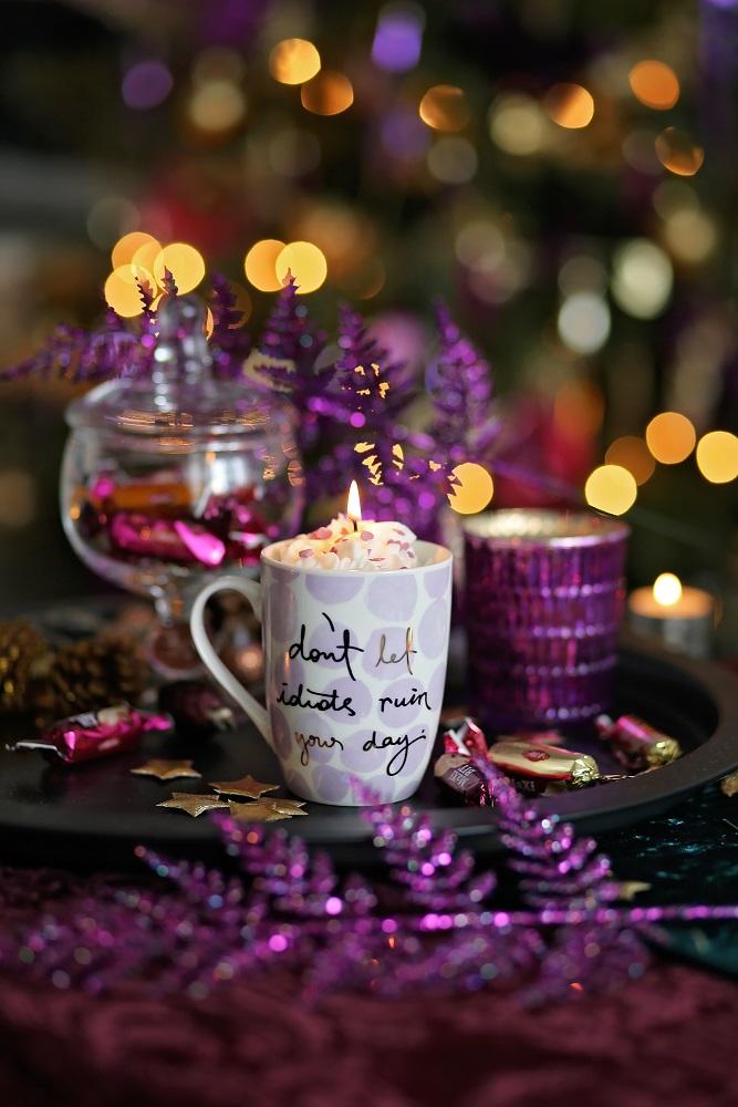Декоративна свещ Positive Vibe Only