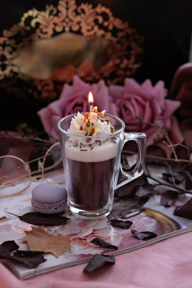 Декоративна свещ Cherry Cappuccino